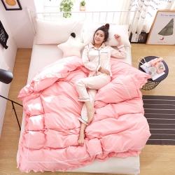 (总)眠然家纺 韩版双层床裙系列单品被套