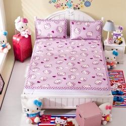 安睡宝 迪士尼KT猫系列凉席冰丝席紫色心情