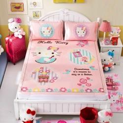 安睡宝 迪士尼KT猫系列凉席冰丝席梦幻乐园
