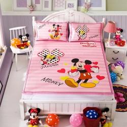 安睡宝 迪士尼米奇系列凉席冰丝席爱心满满粉