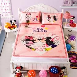安睡宝 迪士尼米奇系列凉席冰丝席亲亲宝贝粉
