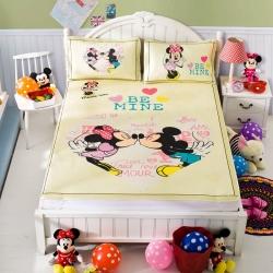 安睡宝 迪士尼米奇系列凉席冰丝席亲亲宝贝黄