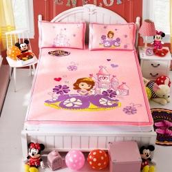 安睡宝 迪士尼米奇系列凉席冰丝席苏菲亚城堡粉