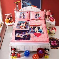 安睡宝 迪士尼米奇系列凉席冰丝席明信片