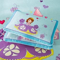 安睡宝 迪士尼米奇系列凉席冰丝席苏菲亚城堡蓝