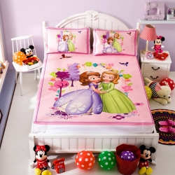 安睡宝 迪士尼苏菲亚系列凉席冰丝席公主日记