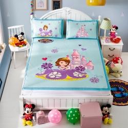 安睡宝 迪士尼苏菲亚系列凉席冰丝席苏菲亚城堡蓝
