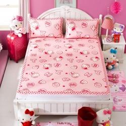 安睡宝 迪士尼KT猫系列凉席冰丝席粉色回忆