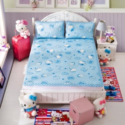 安睡宝 迪士尼KT猫系列凉席冰丝席蓝色经典