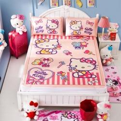 安睡宝 迪士尼KT猫系列凉席冰丝席糖果派对