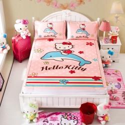 安睡宝 迪士尼KT猫系列凉席冰丝席花海遨游