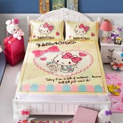 安睡宝 迪士尼KT猫系列凉席冰丝席邻家女孩