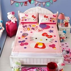 安睡宝 迪士尼KT猫系列凉席冰丝席糖果屋