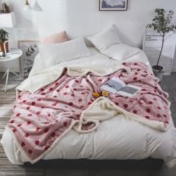 (总)来菲家纺 2018新款复合印花羊羔绒毛毯