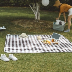 昔可家纺 野餐垫地垫爬爬垫chic韩风系格子深色
