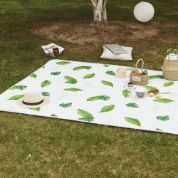 昔可家纺 野餐垫地垫爬爬垫chic韩风系清凉绿叶
