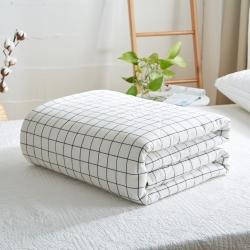 暖阳 可水洗100%里外全棉棉花被空调被纯棉夏被 对白