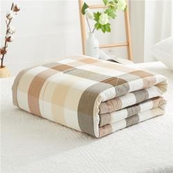 暖阳 可水洗100%里外全棉棉花被空调被纯棉夏被 清闲