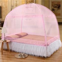 美达 蒙古包蚊帐 升级防蚊蚊帐 粉红色