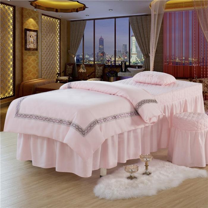 床品套件 四件套 磨毛活性四件套 > 乐逸家纺 欧式花边美容床罩 欧式