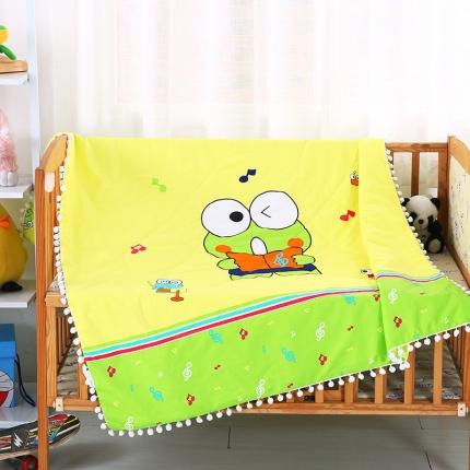 贝贝月家纺 绒球带边款儿童夏被(大版)青蛙王子