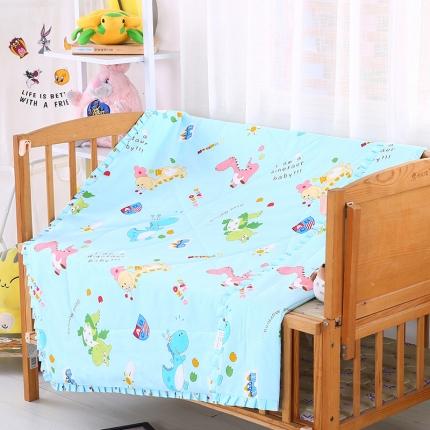 贝贝月家纺 带边款儿童夏被 小恐龙蓝