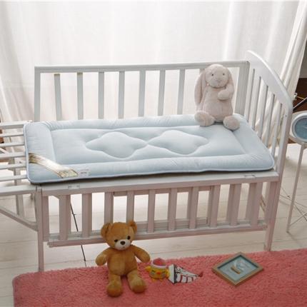 贝贝月家纺 婴幼儿床垫蓝色