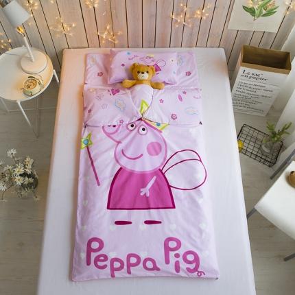 贝贝月家纺 儿童睡袋 粉色皇冠佩奇