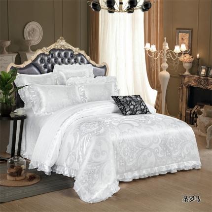 小时代家纺韩版提花床单床盖四件六件套英伦风尚