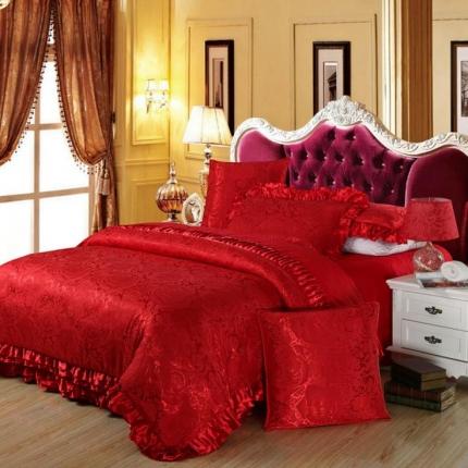 小时代家纺欧式婚庆件床盖四件套六件套玫瑰殿堂