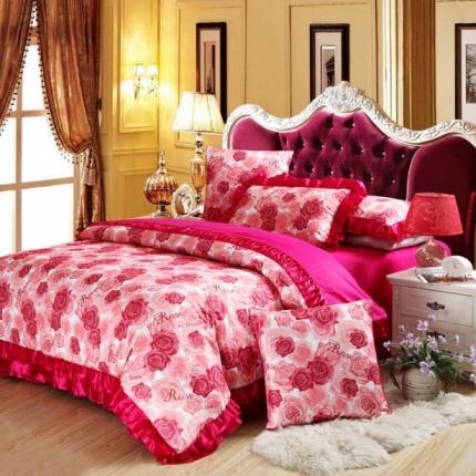 小时代家纺欧式婚庆件床盖四件套六件套华彩溢梦