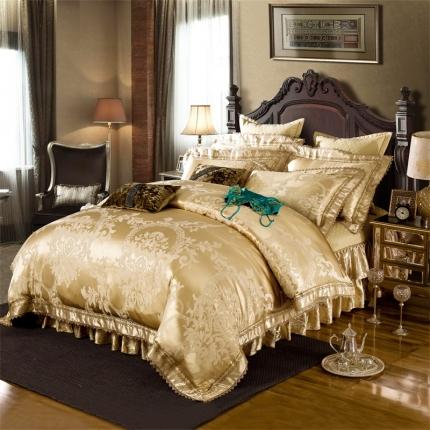 小时代家纺 提花加棉床裙床罩四件套 巴塞罗娜
