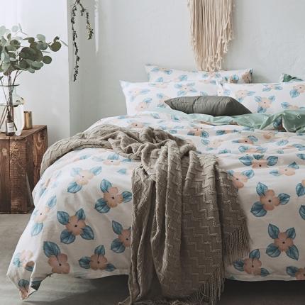 原研家居 2018新款13070印花四件套床单款  艾格特