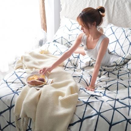 (总)原研家居 60s长绒棉印花四件套床单款