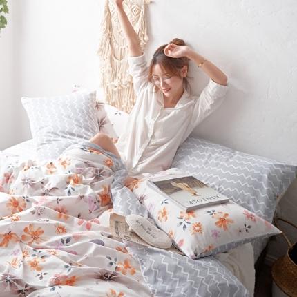 原研家居 2018漫生活系列13070全棉四件套床单款欧卡斯