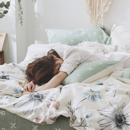 原研家居 2018漫生活系列13070全棉四件套床单款维格拉