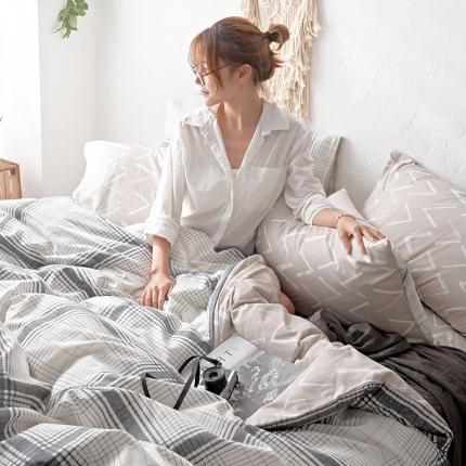 原研家居 2018漫生活系列13070全棉四件套床单款温德拉