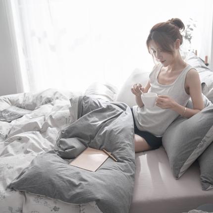 原研家居 2018水洗针织双拼良品系列四件套床单款罗拉