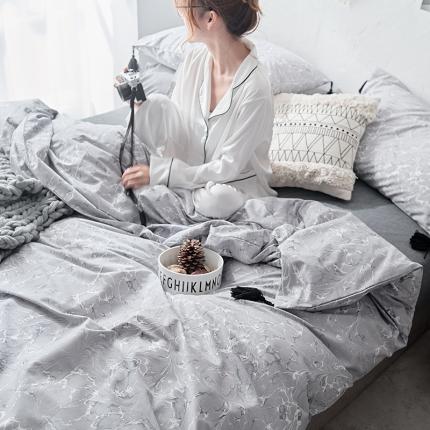 原研家居 全棉小清新款式类四件套床单款玛特