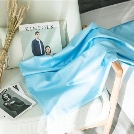 原研家居 2018新款60S长绒棉素色单品床单天蓝