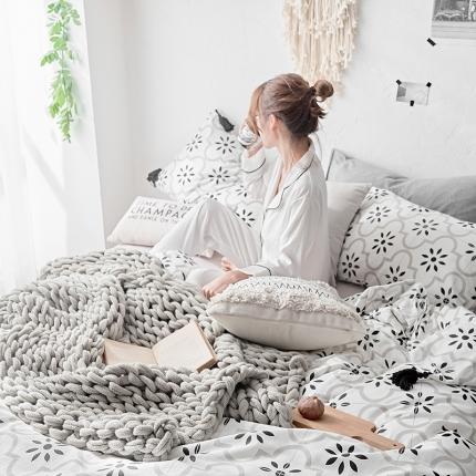 原研家居 全棉小清新款式类四件套床单款塔斯
