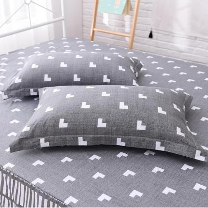 棉立方家纺 全棉13070系列单品枕套(一对)多伦多