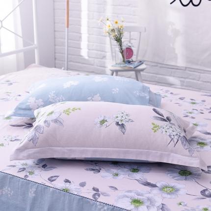 棉立方家纺 全棉13070系列单品枕套(一对)浅浅苏夏