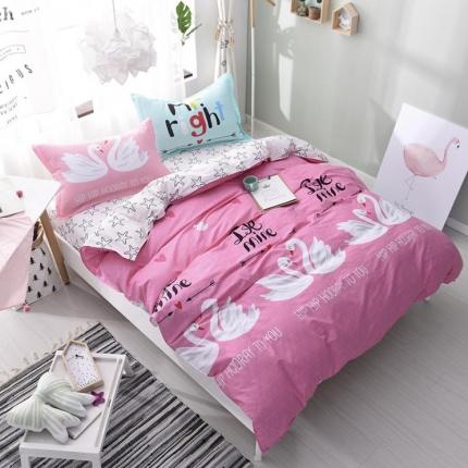 棉立方家纺 13070全棉四件套床单款水晶芭蕾