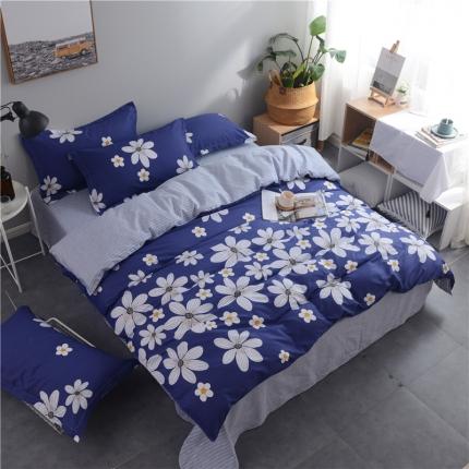 (总)棉立方家纺 新款系列小清新全棉床单四件套