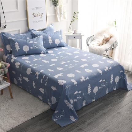 棉立方家纺 新款全棉单床单拉斐庄园