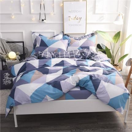 棉立方家纺 新款系列小清新全棉床笠四件套 波尔兰卡