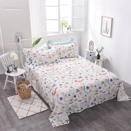 棉立方家纺 新款全棉单床单 艾夏
