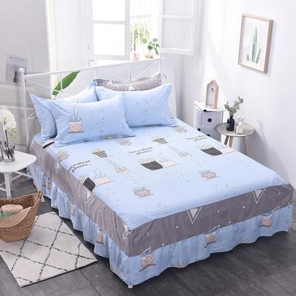 (总)棉立方家纺 新款全棉单品床裙系列单床裙