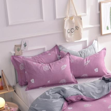 棉立方家纺 新款全棉单枕套 米罗粉